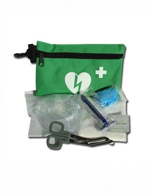 AED veiligheidsset uitgepakt