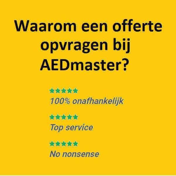 Waarom een offerte opvragen bij AEDmaster?